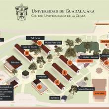 Ubicación del Centro Universitario de la Costa