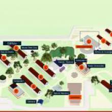 Mapa del Centro Universitario de la Costa